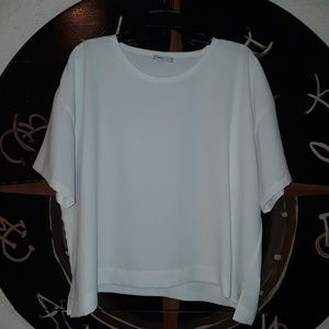 Vince Blouse small white shirt Luxury quality wear